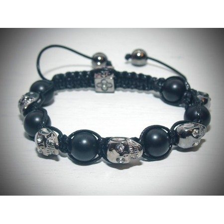 Dark black skull bracelet