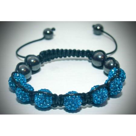 Ice blue crystal shamballa bracelet