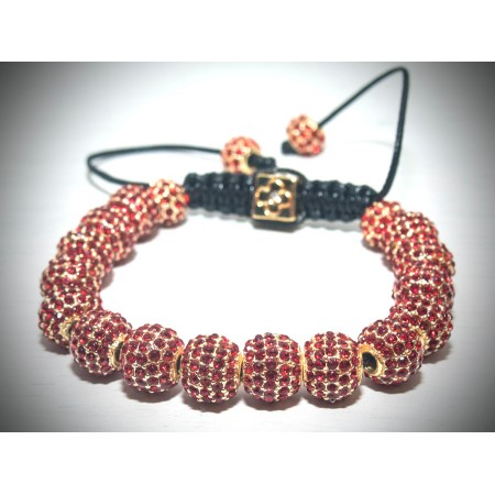 Red and gold crystal bracelet