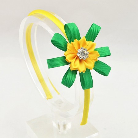 Spring yellow flower head band