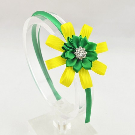 Spring green flower head band