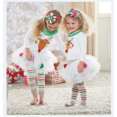 Reindeer tutu leggings & top outfit