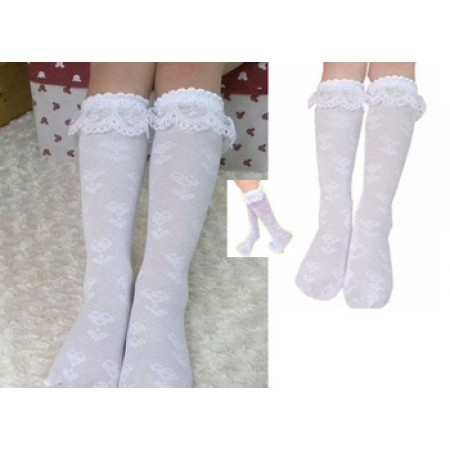 white lacey knee high socks