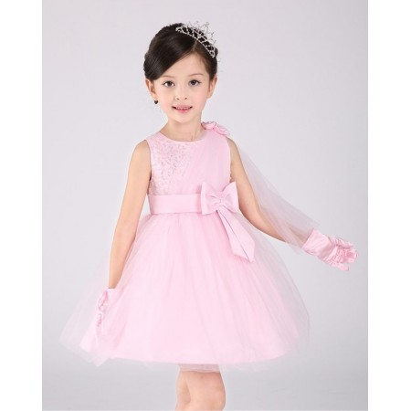 Clarissa pink beaded sash party dress
